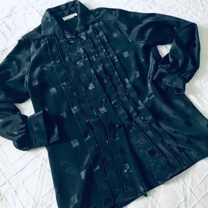 Vintage Black Blouse